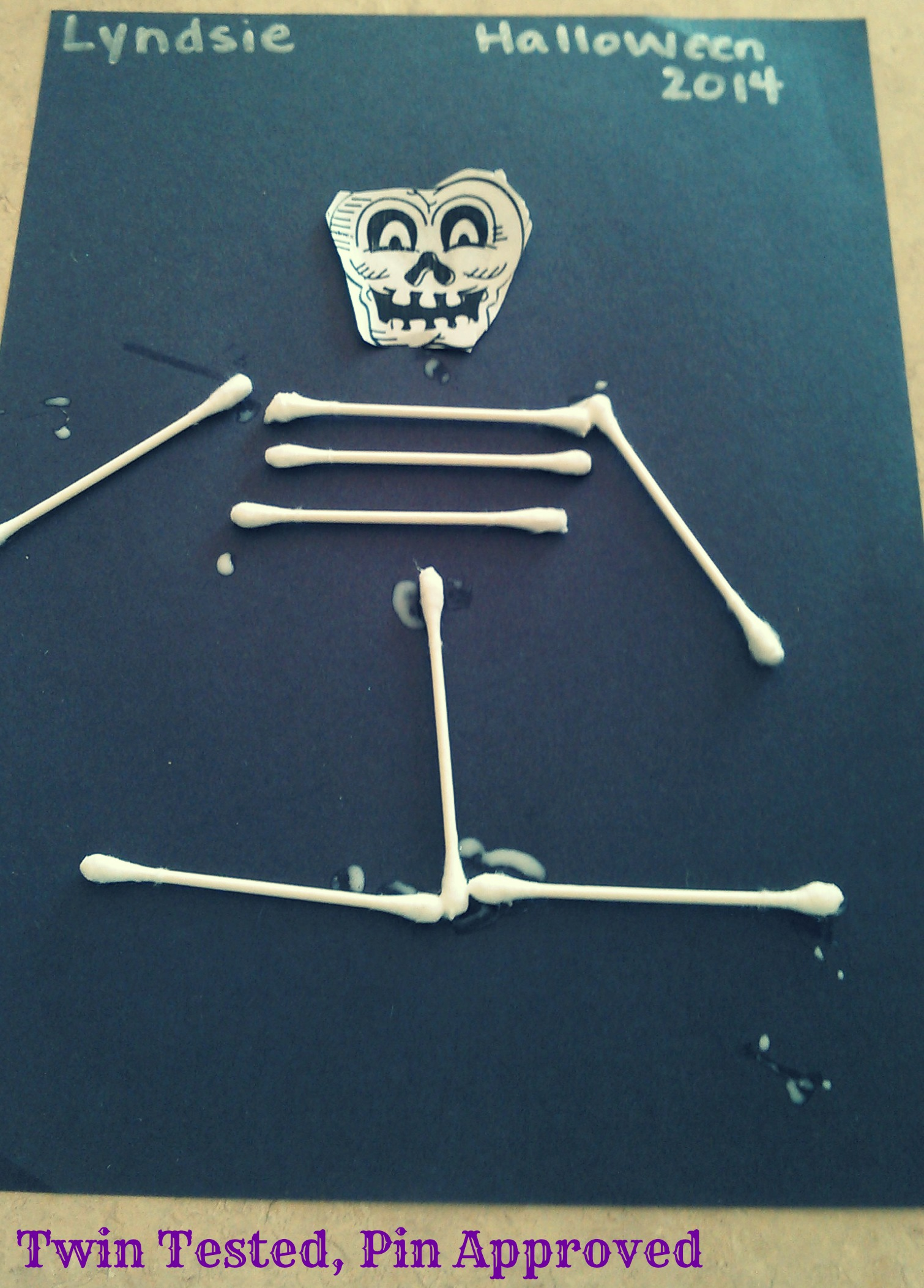 Leapfrog kids activities and q tip skeleton craft for Q tip skeleton craft template
